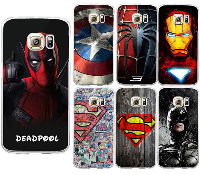 For-Galaxy-S7-Edge-Deadpool-Spiderman-Avengers-Hard-PC-Case-Caso-For-Samsung-Galaxy-S6-S7